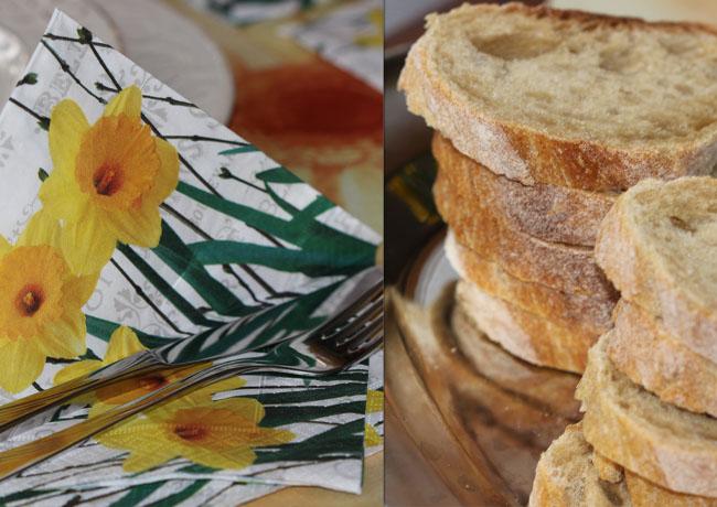 chleb i sztućce