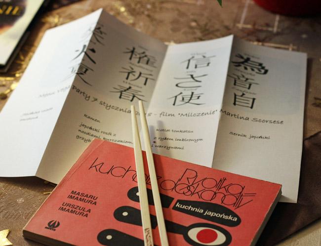 ksiązka o kuchni japonskiej