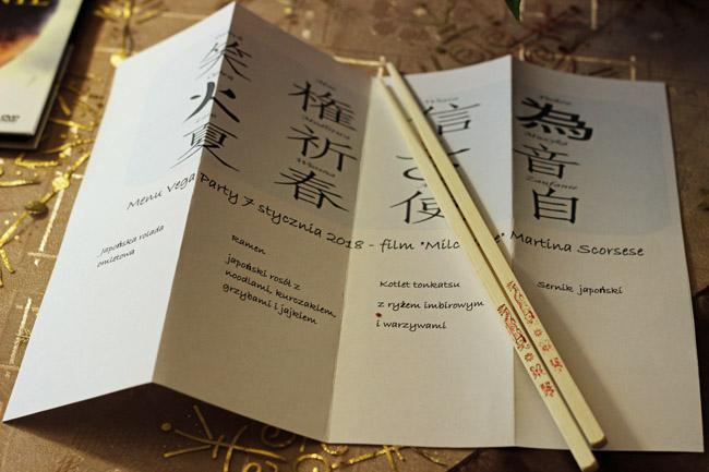 menu japońskie