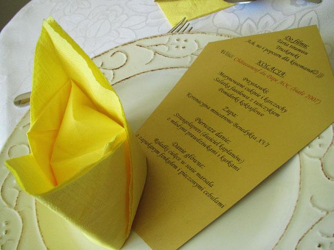menu watykańskie