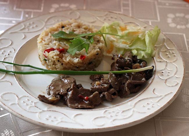 polędwica w sosie ostrygowym