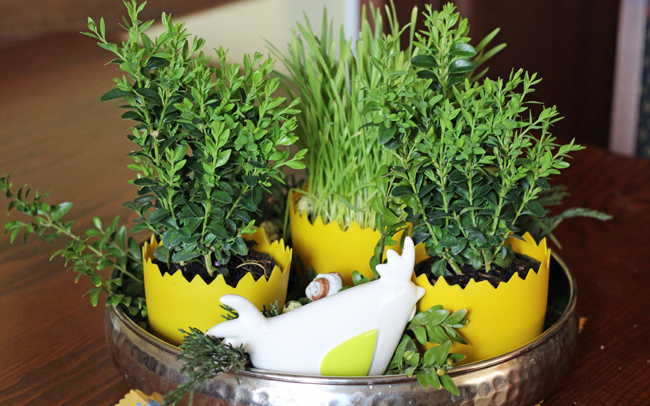 zielona dekoracja stołu