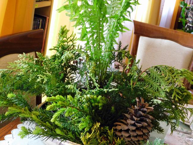 kawałek lasu na stole